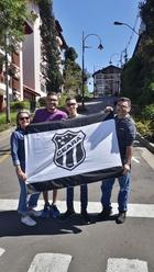 Família Crisóstomo mostrando seu amor pelo alvinegro em Gramado/RS
