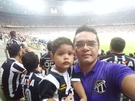 1° vez do meu filho Rafael no Castelão com vitória do Vozão..