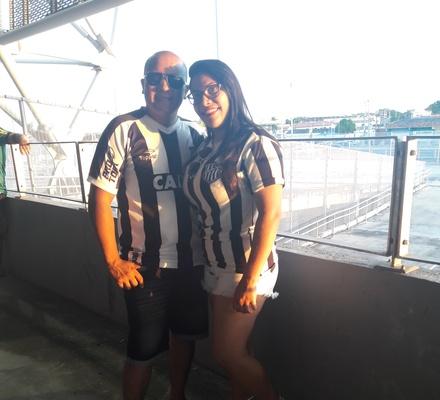 Torcedora Erilene Lima e seu esposo Fabio