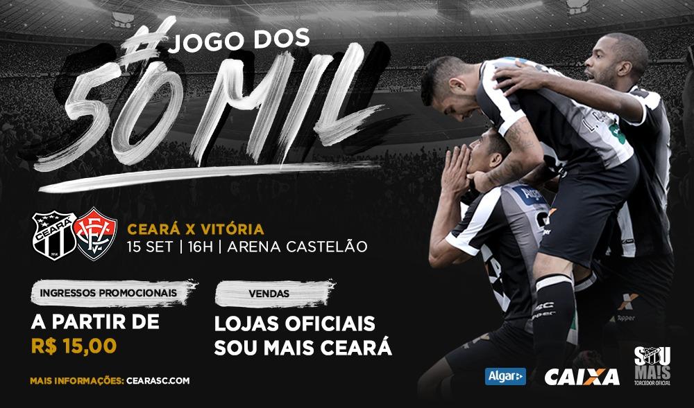 b68de4d57b Ceará x Vitória  Venda de ingressos inicia nessa segunda-feira com preços  promocionais