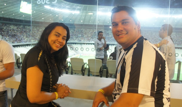Os Alvinegros Ronald Lima Roriz e Eliane Barros Roriz foram os ganhadores da promoção
