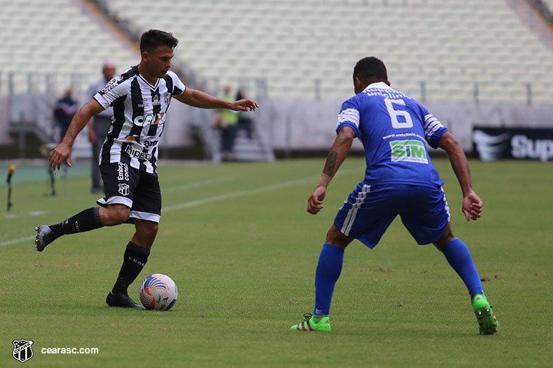 Aos 39' do segundo tempo, Maxi Biancucchi marcou o gol de empate. Foi o primeiro do argentino com a camisa do Ceará.