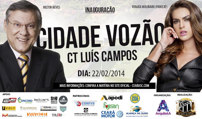 A Cidade Vozão será inaugurada com a presença de grandes personalidades