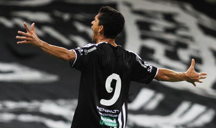 Magno Alves comemorou muito o primeiro gol marcado diante do Ceilândia/DF