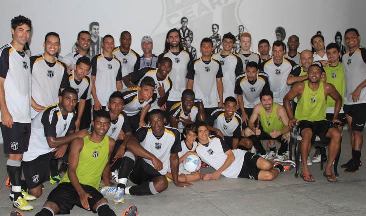 Os jogadores passaram a conhecer um pouco mais da história do clube cearense