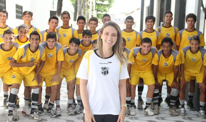 Bruna Azevedo está à frente dos trabalhos com os atletas da Base do Vovô