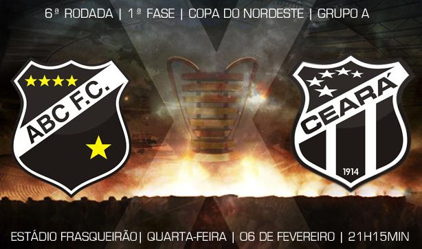 ABC de Natal x Ceará vai acontecer nesta quarta-feira, 06/02, às 21h15min