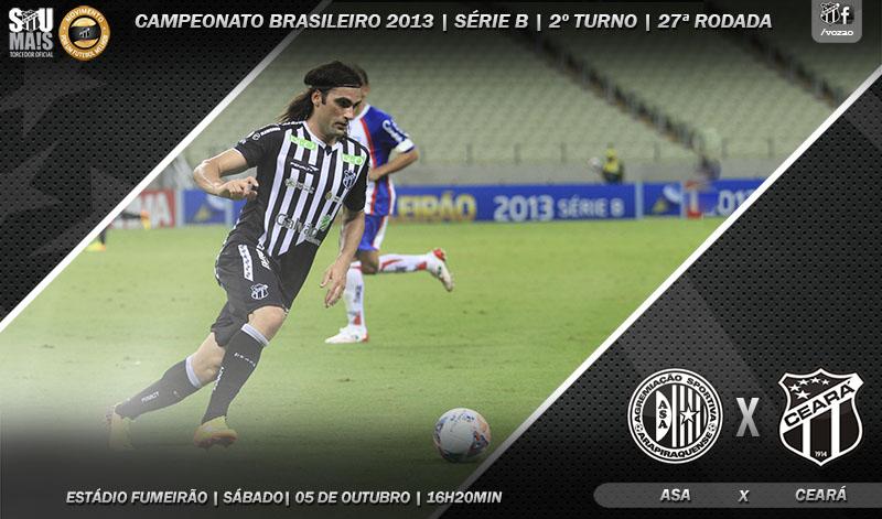 ASA x Ceará vai acontecer às 16h20min, no estádio Fumeirão, em Arapiraca/AL