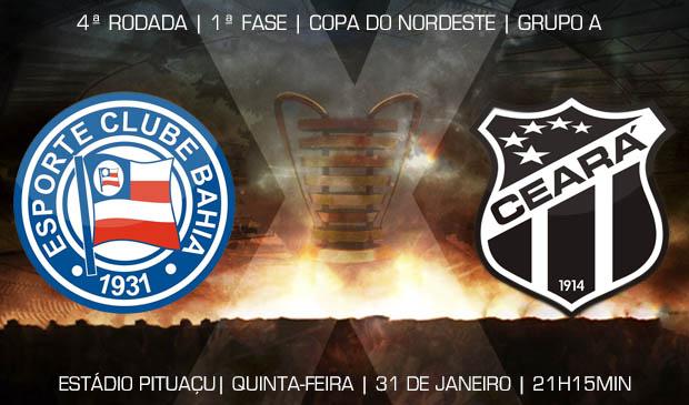 O duelo entre Bahia x Ceará vai acontecer no estádio Pituaçu