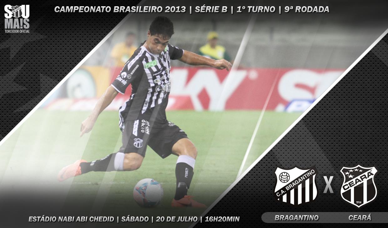 O confronto entre Bragantino x Ceará é válido pela nona rodada do Brasileirão