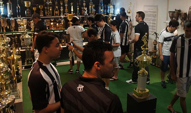 A sala de troféus é o espaço mais visitado pelos torcedores do Vozão