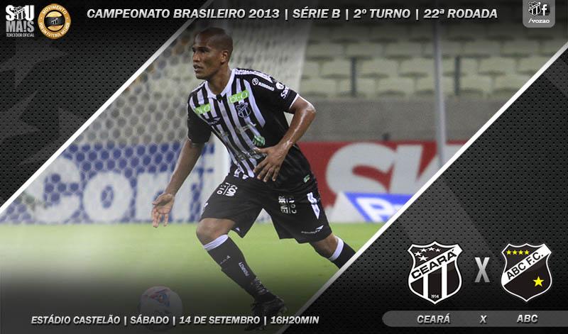 O duelo entre Ceará x ABC será realizado às 16h20min, na Arena Castelão