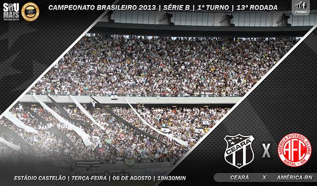 Ceará x América/RN vai ser realizado às 19h30min, no estádio Castelão