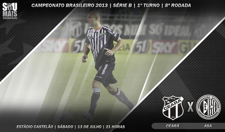 Ceará x ASA vai ser realizado às 21 horas de sábado, no estádio Castelão