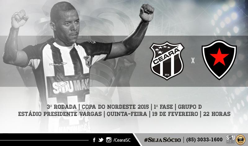 O duelo entre Ceará x Botafogo/PB é válido pela 3ª rodada do Nordestão 2015