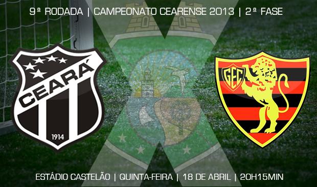 Ceará x Guarani (J) vai ser realizado às 20h15min, no estádio Castelão