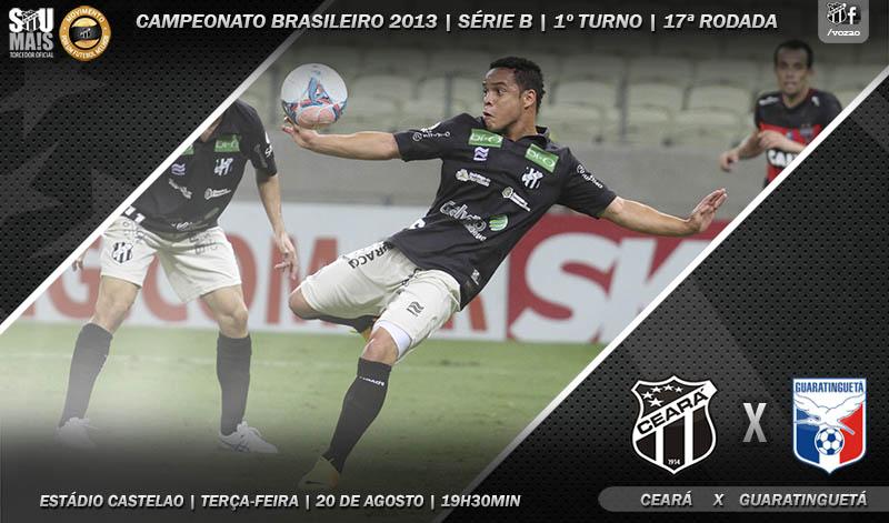 O jogo desta noite é válido pela 17ª rodada do Brasileirão Série B 2013