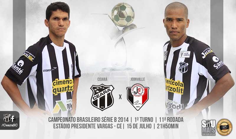 A partida contra os catarinenses é válida pela 11ª rodada do Brasileirão Série B 2014