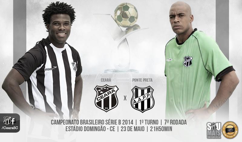 O jogo de hoje é válido pela 7ª rodada do Campeonato Brasileiro Série B 2014