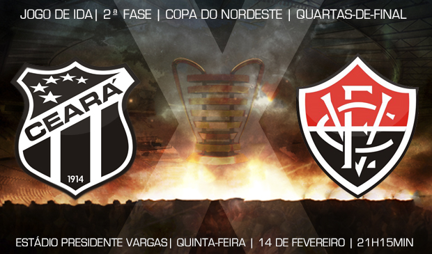 Ceará x Vitória é válido pelas quartas de final da Copa do Nordeste 2013
