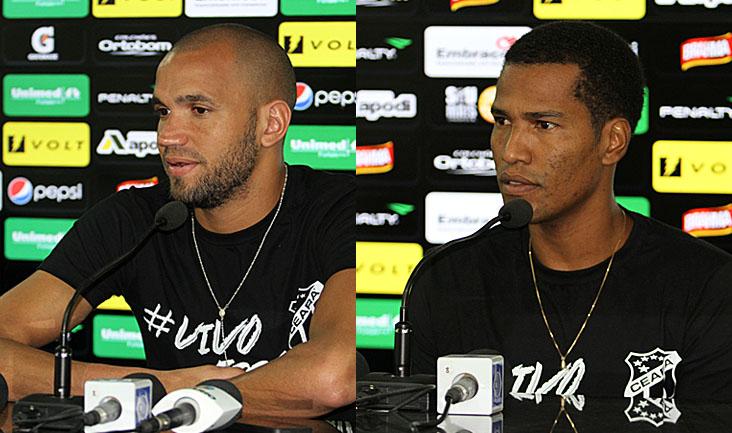 Os dois jogadores conversaram com a imprensa na tarde desta quinta-feira, em Porangabuçu