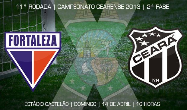 Este será o segundo jogo entre Ceará e Fortaleza nesta temporada 2013