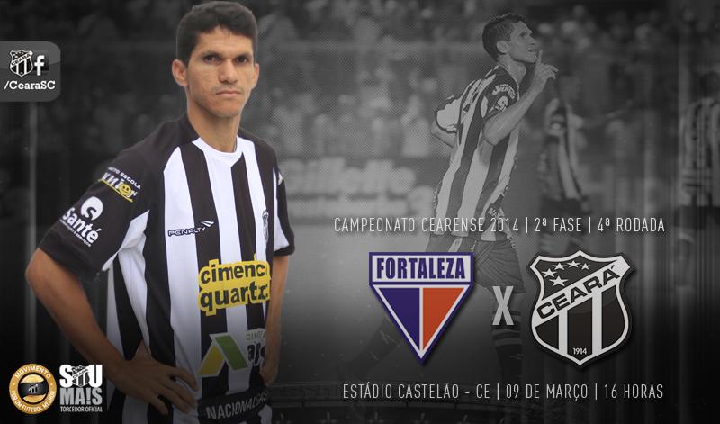 O compromisso entre Fortaleza x Ceará vai ter início às 16 horas, no Castelão