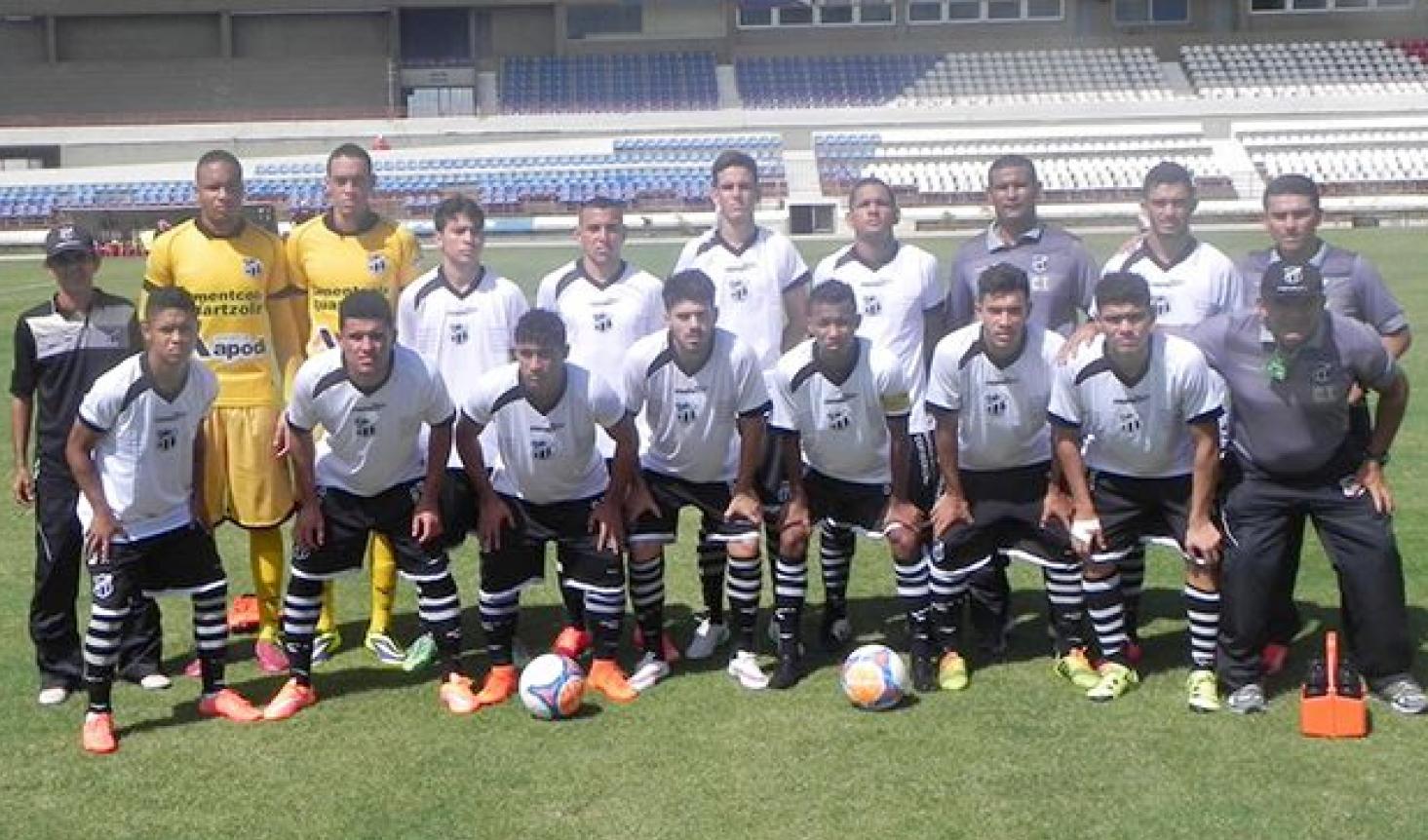 Comandado por Cristian Souza, o Ceará Sub-20 não tomou nenhum gol nos três jogos disputados até agora.