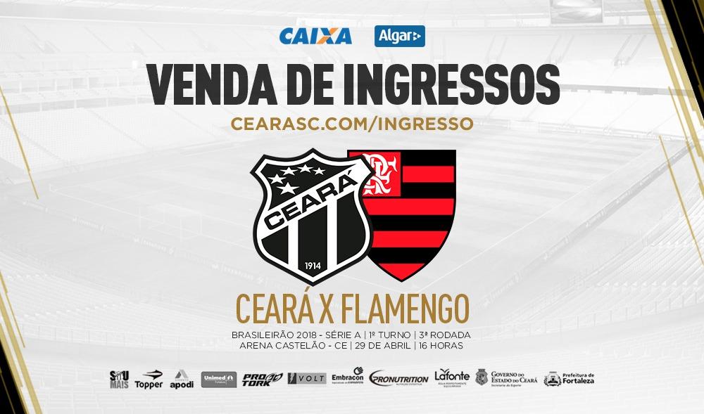 a70c5f55a7 Continua a venda de ingressos para a partida entre Ceará e Flamengo