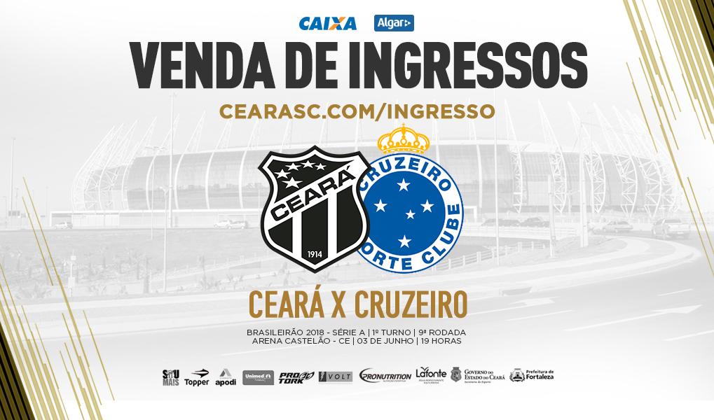 d7e7ddce13 Ceará x Cruzeiro  Confira informações sobre a venda de ingressos