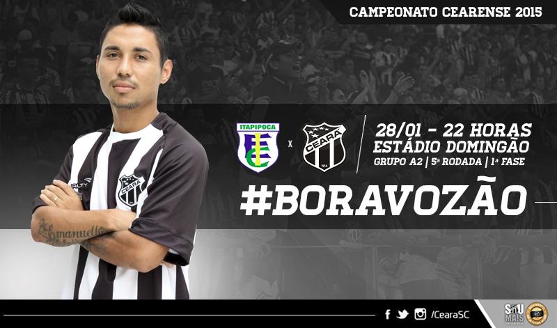 A partida entre Itapipoca x Ceará vai acontecer às 22 horas desta quarta-feira