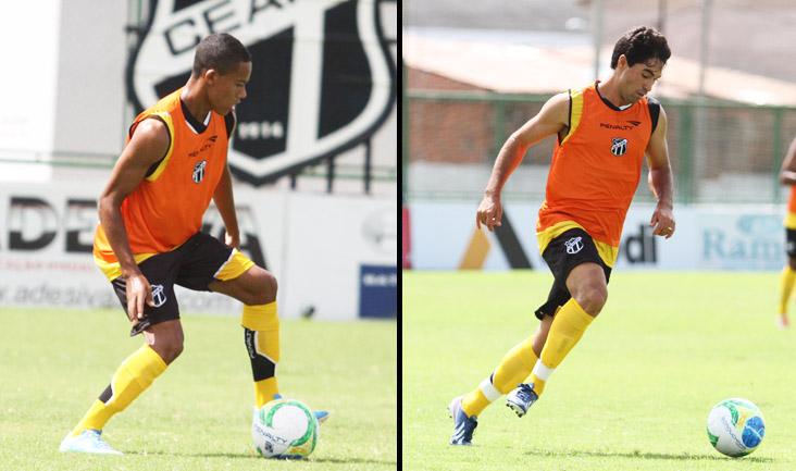 O atacante Robinho e o lateral-direito Marcos falaram sobre as suas expectativas para o jogo