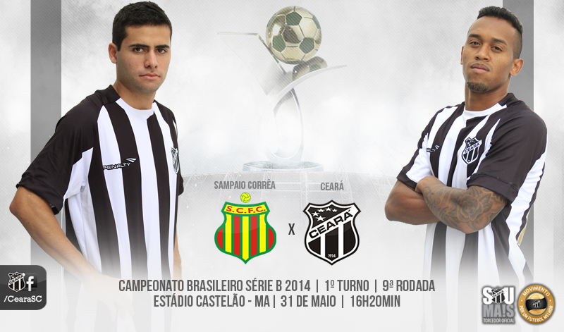 A partida entre Sampaio Corrêa x Ceará vai ter início às 16h20min