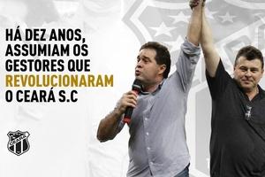 Há dez anos, assumiam os gestores que revolucionaram o Ceará S.C