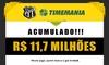 Prêmio da Timemania continua acumulado