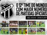 Ceará é o 12º clube do mundo que mais atuou nos últimos dez anos