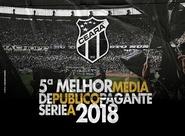 Série A 2018: Ceará termina a competição com a 5ª melhor média de público pagante