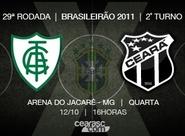 Com retrospecto equilibrado, América/MG x Ceará duelam
