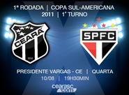 Começa a venda de ingressos para jogo entre Ceará x São Paulo, pela Sul-Americana