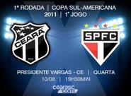 Continua a venda de ingressos para jogo de hoje, entre Ceará x São Paulo