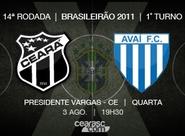 PV receberá pela primeira vez, na Série A do Brasileirão, Ceará x Avaí
