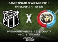 Venda de ingressos para Ceará x Tiradentes começa hoje