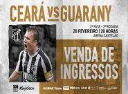 Confira as informações sobre a venda de ingressos para o jogo entre Ceará e Guarany (S)