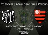 Para manter o retrospecto favorável, Ceará recebe o Flamengo