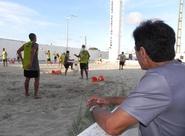 Jogadores treinam duro na tarde desta quarta