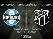 Pela 36ª rodada do Brasileirão, Ceará encara o Grêmio