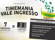 Promoção aposta da Timemania vale ingressos