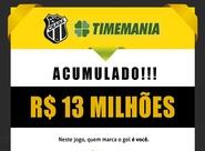 Prêmio da Timemania está acumulado. Aposte!