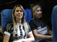"""""""Reforço de Primeira"""": torcedoras oficiais embarcaram no ônibus da delegação para a Arena Castelão"""