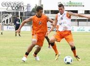 Ceará finaliza treinamentos antes de encarar o Flamengo